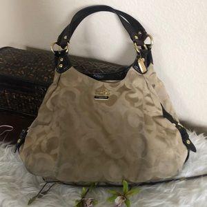 Coach tan & brown shoulder bag